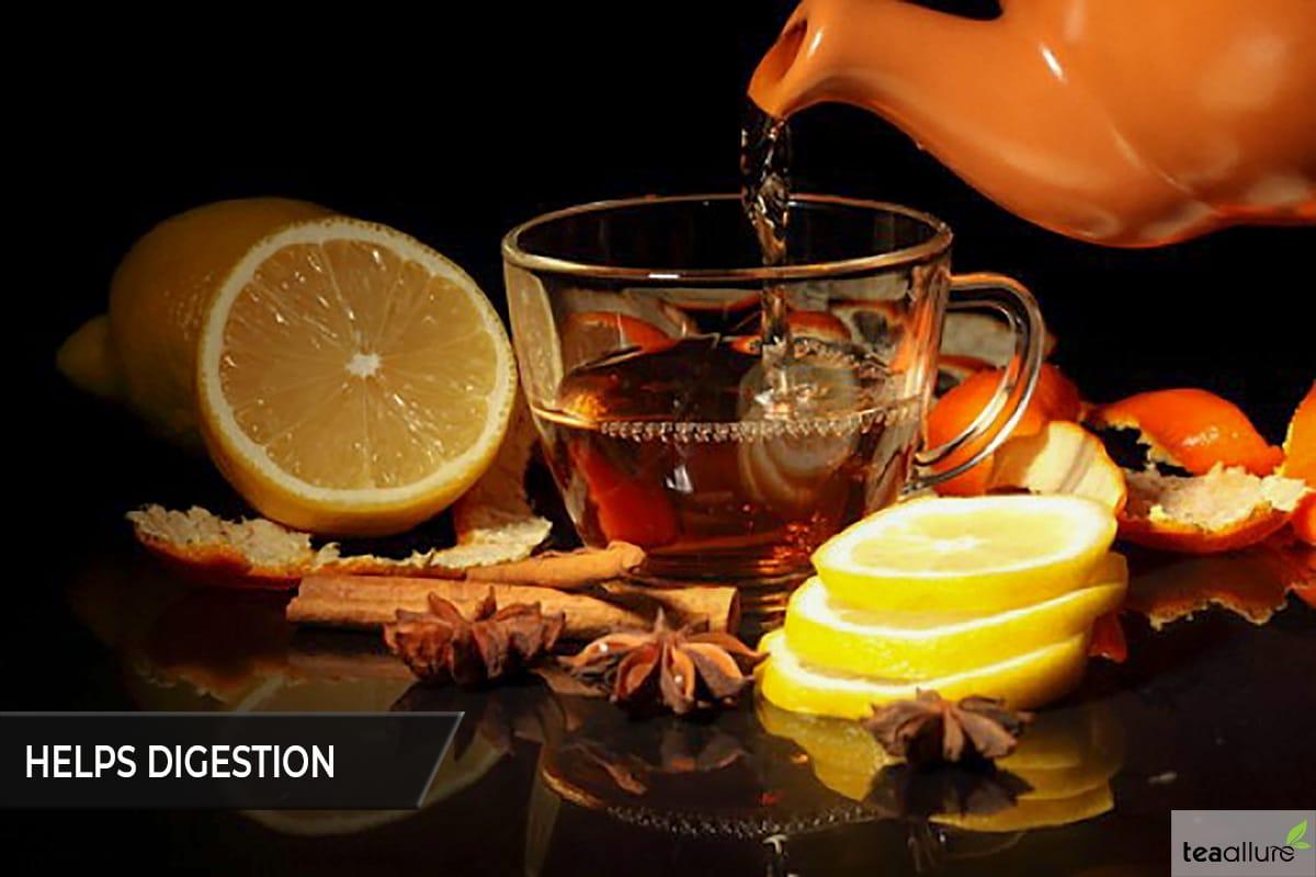 Black tea helps digestion