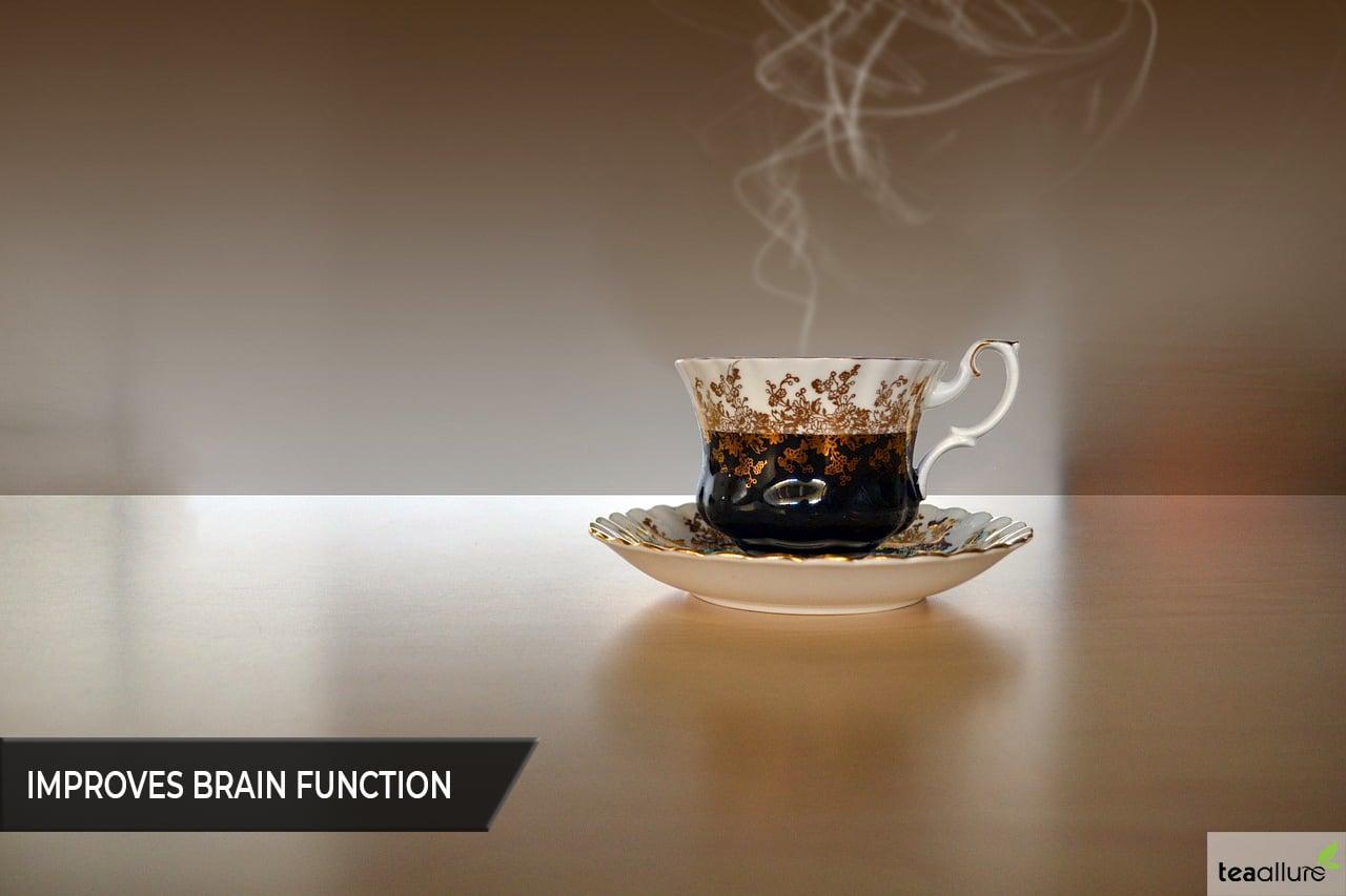Black tea improves brain function