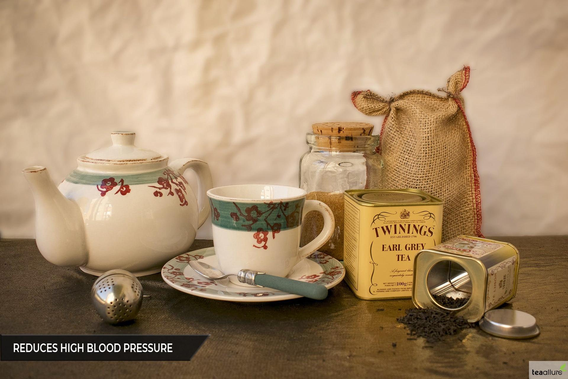 Black tea reduces high blood pressure