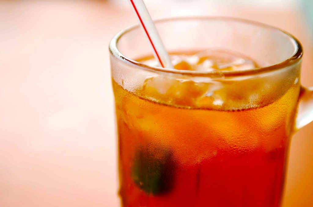 Iced oolong tea preparation ingredients