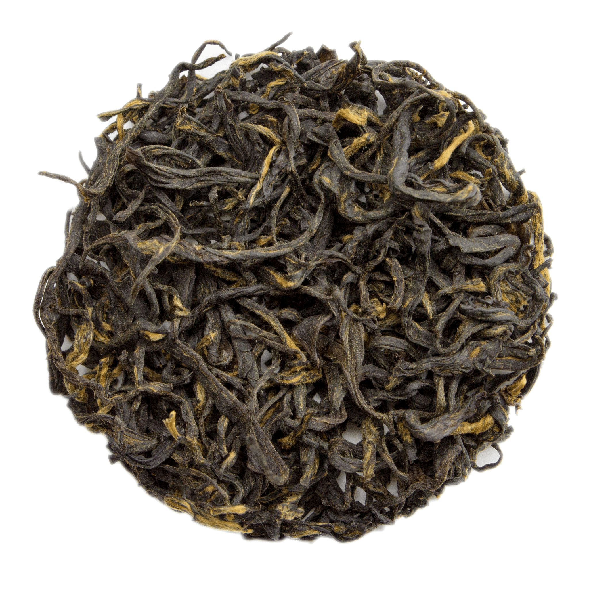 Keemun Mao Feng black tea leaves