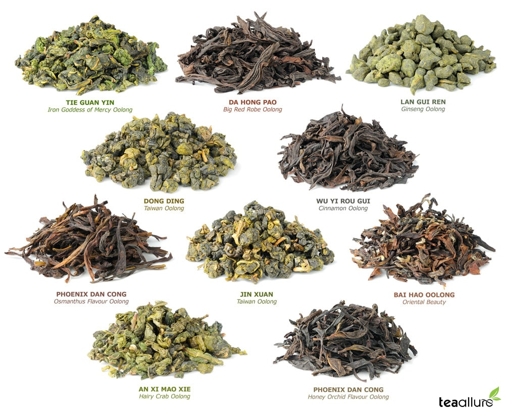 Different Oolong Tea types
