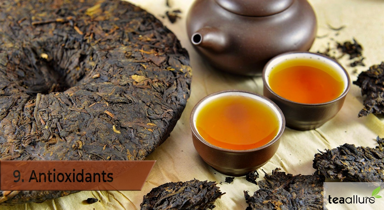 Pu-erh tea health benefits: Antioxidants