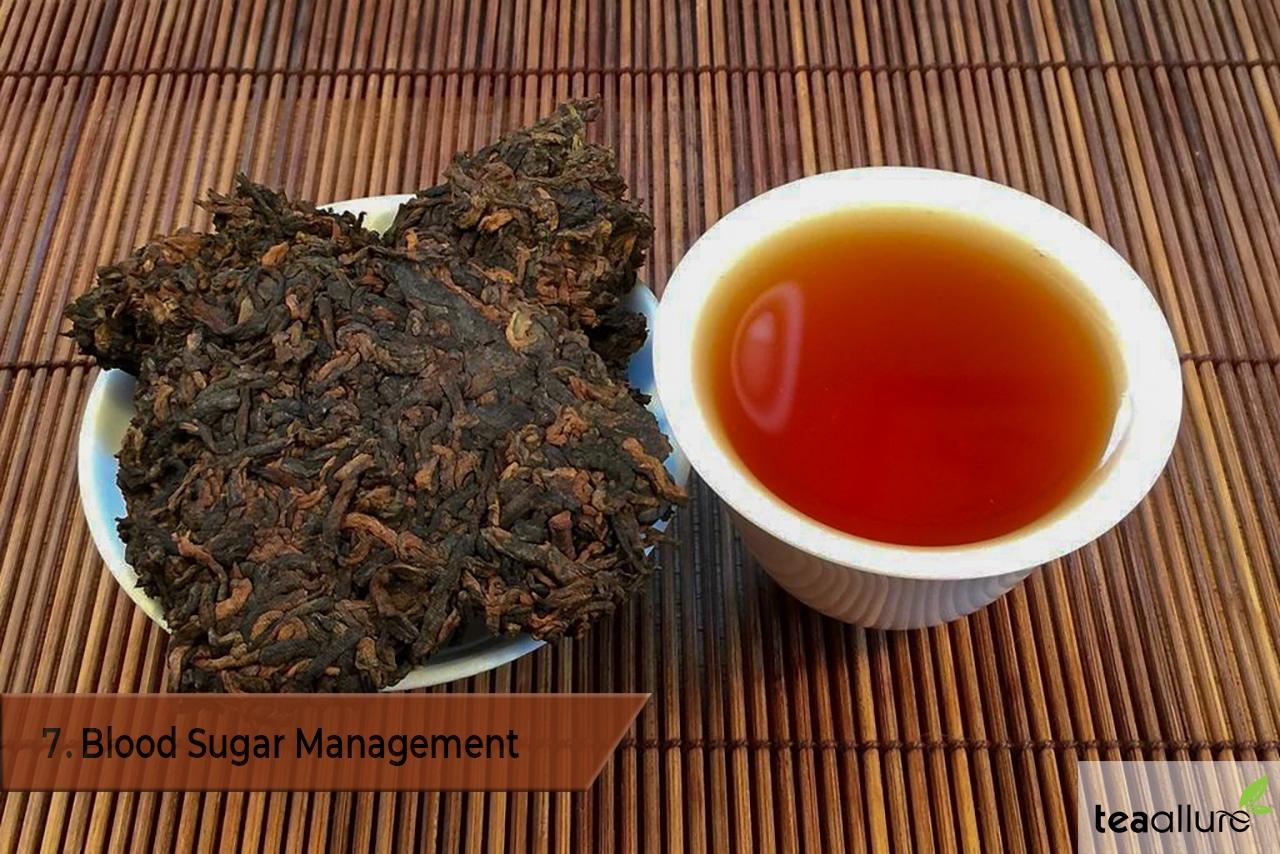 Pu-erh tea benefits: blood sugar management