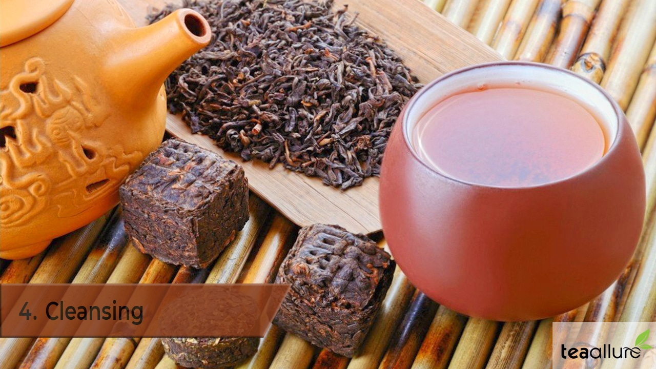 Pu-erh tea benefits: Cleansing