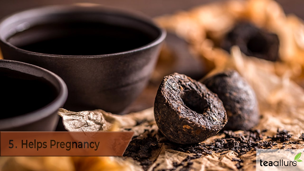 Pu-erh tea health benefits: helps pregnancy