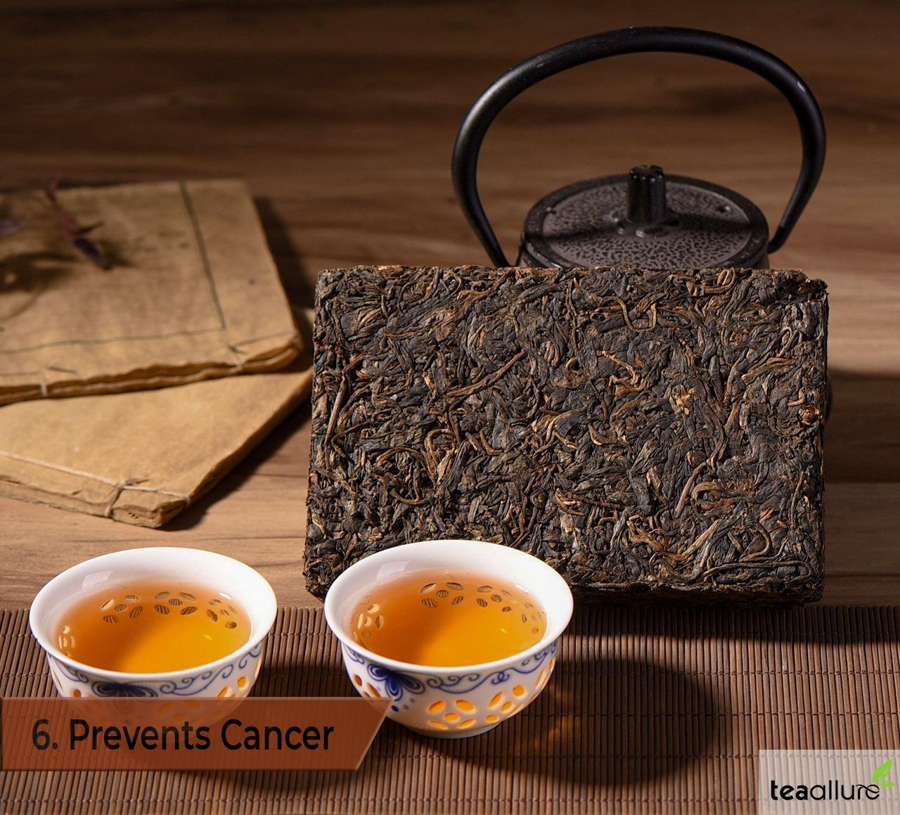 Pu-erh tea health benefits: prevents cancer