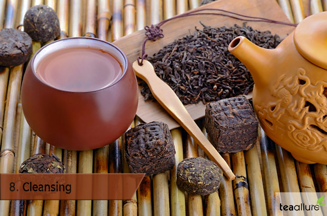 Pu-erh tea health benefits: Cleansing