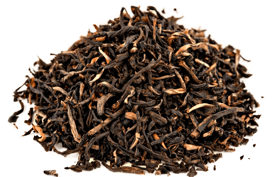 Yunnan black tea leaves